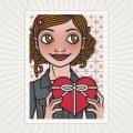 Lily Lux Grußkarte für Verliebte und Herzverschenker