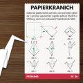 Bastelkarte mit Anleitung für Papierkraniche