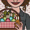 Lily Lux Passbild mit Picknickkorb zu Ostern
