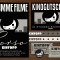 Corporate Identity, Logo und Werbung für Lily Lux Corso Kino