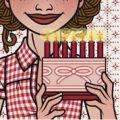 Lily Lux Passbild mit Torte zur Siebenhundert