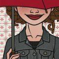Lily Lux Passbild mit Regenschirm