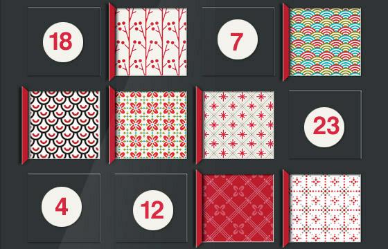 Lily Lux Bastelvorlage für Adventskalender zum Selberbasteln mit Mustern