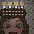 Lily Lux Passbild mit Lichterkrone zum Luciatag
