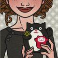 Lily Lux Passbild mit Winkekatze zu Silvester