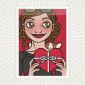 Lily Lux Grußkarte zum Valentinstag