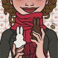 Lily Lux Passbild mit Osterhasen