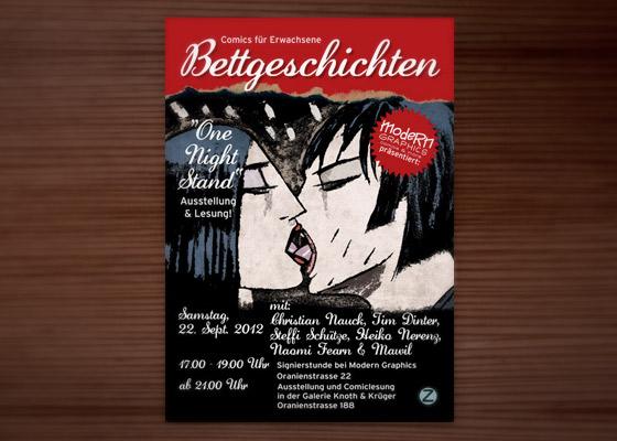 Einladung zur Ausstellung der Bettgeschichten Anthologie