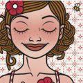 Lily Lux Passbild mit Blüten