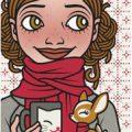 Lily Lux Passbild mit Frühlingsgrippe
