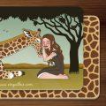 Frühstücksbrettchen Emmy & Patty mit Mädchen und Giraffe für EmpaTrain