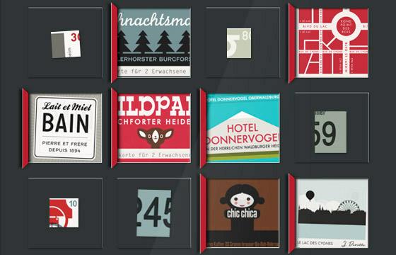 Lily Lux Bastelvorlage für Adventskalender zum Selberbasteln mit Souvenirs