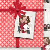 Bastelvorlage   Lily Lux' Geschenkanhänger