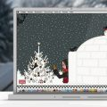 Lily Lux Wallpaper mit Iglu im Winter