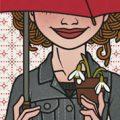 Lily Lux Passbild mit Schneeglöckchen und Schirm im Frühling