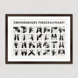 Art Print Handalphabet