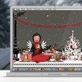Lily Lux Wallpaper mit Picknick im Winter