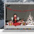 Lily Lux Wallpaper mit Picknick im Winter