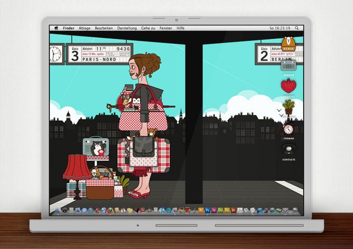 Lily Lux Wallpaper mit Reisegepäck im Sommer