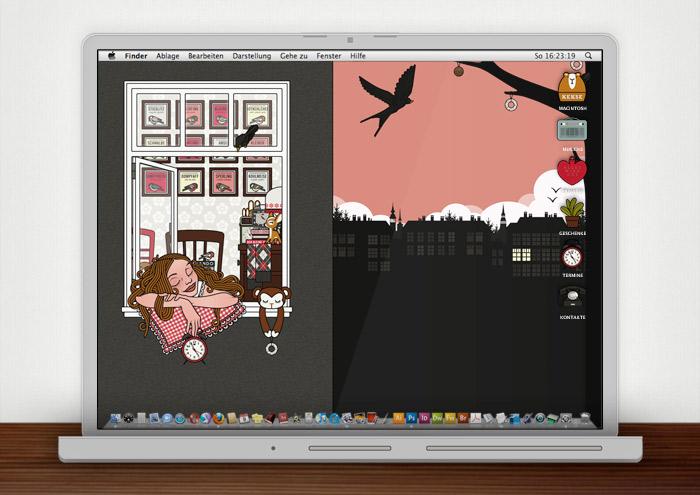 Lily Lux Wallpaper mit Vogelkonzert im Frühling