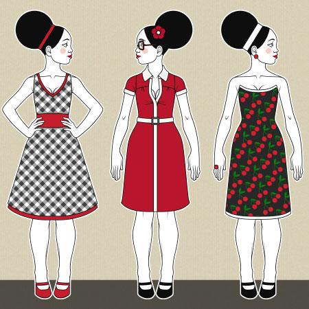 Modezeichnen // Kleine Kleidchen