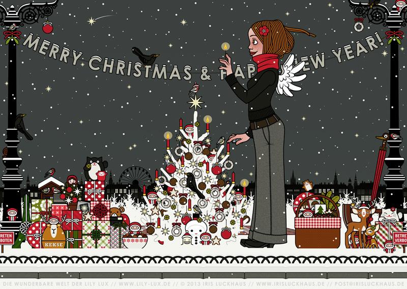 Lichterfest Weihnachtskarte für Lily Lux