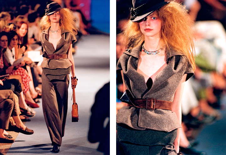 Outfit Almenrausch mit Weste, Hose und Hut aus der Mode Kollektion Voyage nach dem Vorbild historischer Reisekleidung von Iris Luckhaus
