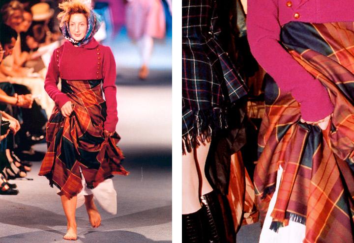 Outfit Cheval Perdu aus Tartan nach einem Schnitt von Frauenreitkleidung aus dem frühen 19. Jahrhundert aus der Mode Kollektion Amazonen