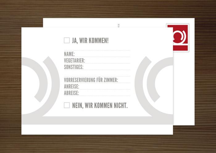 Antwortkarte, Grafik Design von Logo und Corporate Identity für Hochzeit und gemeinsames Leben des Paares
