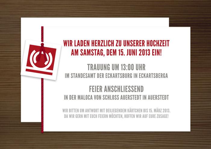 Einladungskarte, Grafik Design von Logo und Corporate Identity für Hochzeit und gemeinsames Leben des Paares