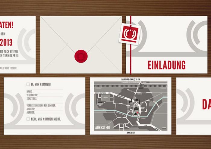 Karten im Set, Grafik Design von Logo und Corporate Identity für Hochzeit und gemeinsames Leben des Paares
