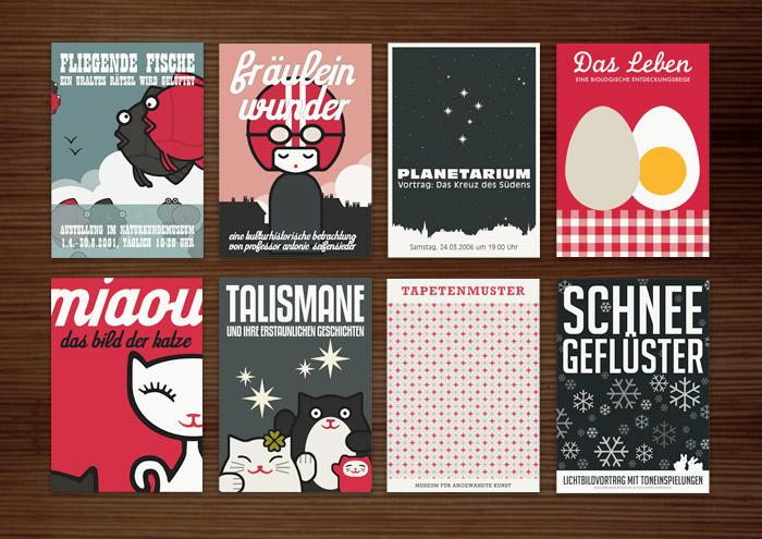 Corporate Identity, Logo und Grafik Design für Museen und Ausstellungen bei Lily Lux