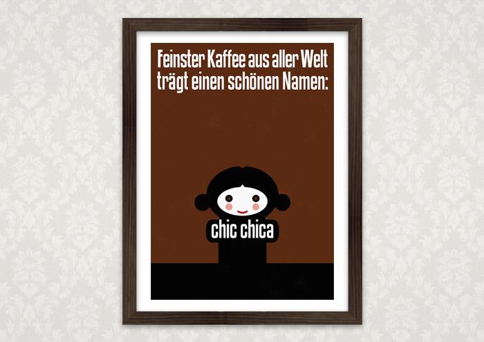Poster für Lily Lux' Bio Mia Kaffee
