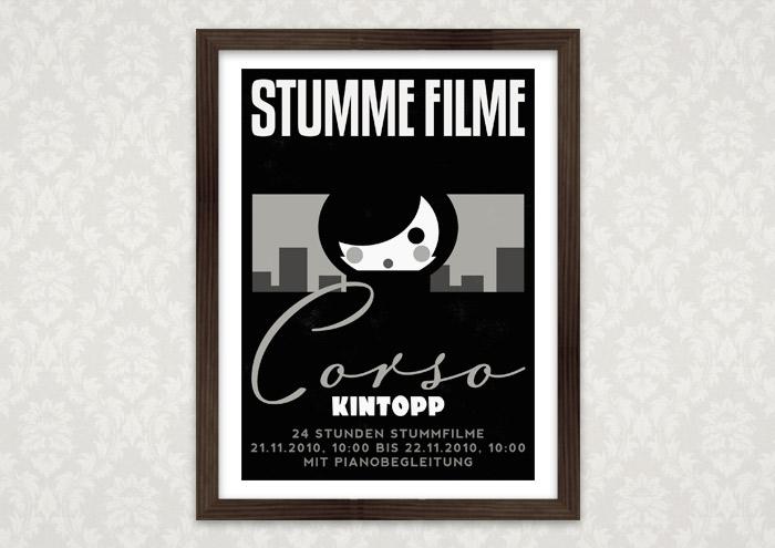 Poster für Lily Lux Stummfilmabend im Corso Kino