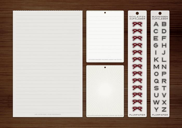 Papeterie mit Aufklebern und Papierwaren von Lily Lux Mia's Mikromarkt