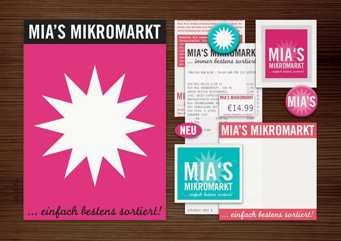 Corporate Identity, Logo und Grafik Design mit Stern für Lily Lux Mia's Mikromarkt