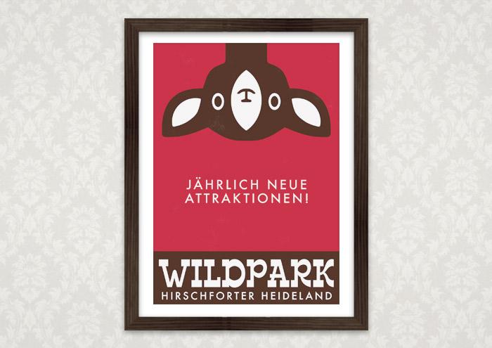 Poster mit Rehkopf für Lily Lux Wildpark Hirschforter Heide
