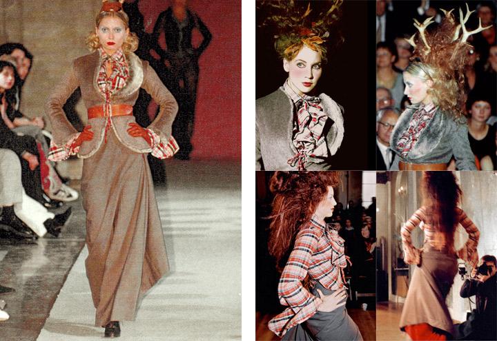 Outfit Falkenluder bei Modenschauen der Jagdfieber Mode Kollektion nach historischer Frauenjagdkleidung und der Kleidung von Jägerinnen zur Jagd von Iris Luckhaus