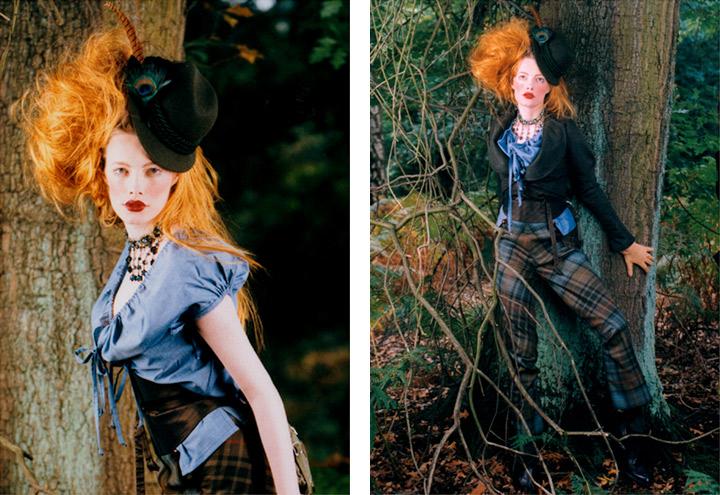 Outfit Federspiel mit Bluse, Hose, Waspie, Jäckchen, Tasche und Hut aus der Jagdfieber Mode Kollektion nach historischer Frauenjagdkleidung und der Kleidung von Jägerinnen zur Jagd