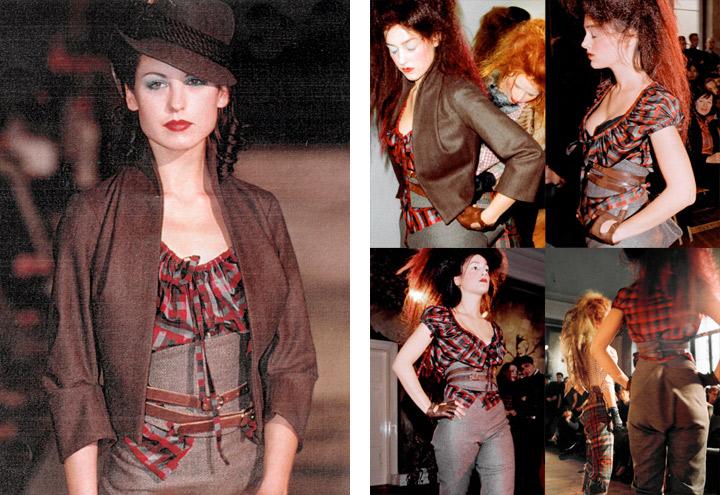 Outfit Jagdgigerl bei Modenschauen der Jagdfieber Mode Kollektion nach historischer Frauenjagdkleidung und der Kleidung von Jägerinnen zur Jagd von Iris Luckhaus