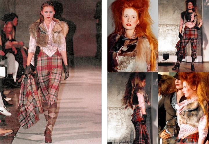 Outfit Wolpertinger bei Modenschauen der Jagdfieber Mode Kollektion nach historischer Frauenjagdkleidung und der Kleidung von Jägerinnen zur Jagd von Iris Luckhaus