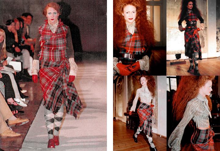 Outfit Waldbraut bei Modenschauen der Jagdfieber Mode Kollektion nach historischer Frauenjagdkleidung und der Kleidung von Jägerinnen zur Jagd von Iris Luckhaus