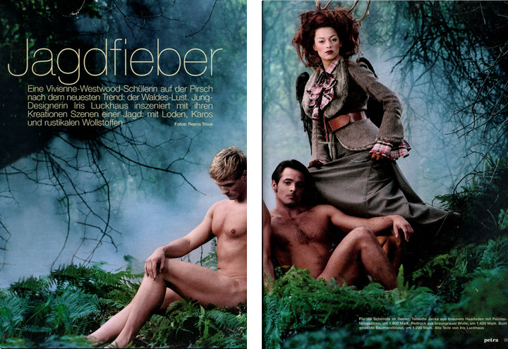 Outfit Falkenluder aus der Jagdfieber Mode Kollektion nach historischer Frauenjagdkleidung und der Kleidung von Jägerinnen zur Jagd