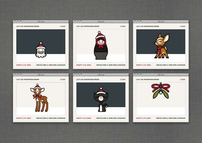 Adventskalender-Türchen im Onlinespiel auf der Website von Lily Lux