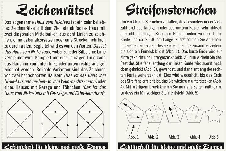 Anleitung für das Haus vom Nikolaus und Streifensternchen aus Papier für Lily Lux