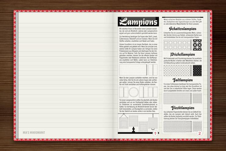 Anleitung für verschiedene Lampions zum Selberbasteln für Lily Lux im Buch Lily Lux Notizbuch