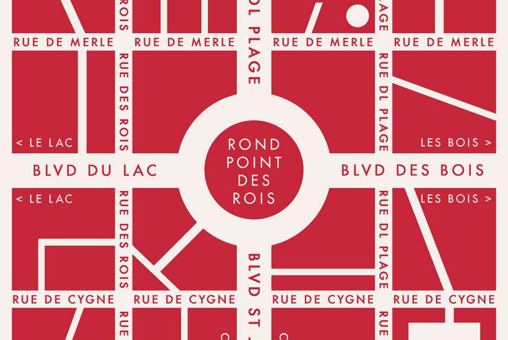 Grafik Design für die Landkarte oder dem Stadtplan einer fiktiven französischen Kleinstadt für Lily Lux