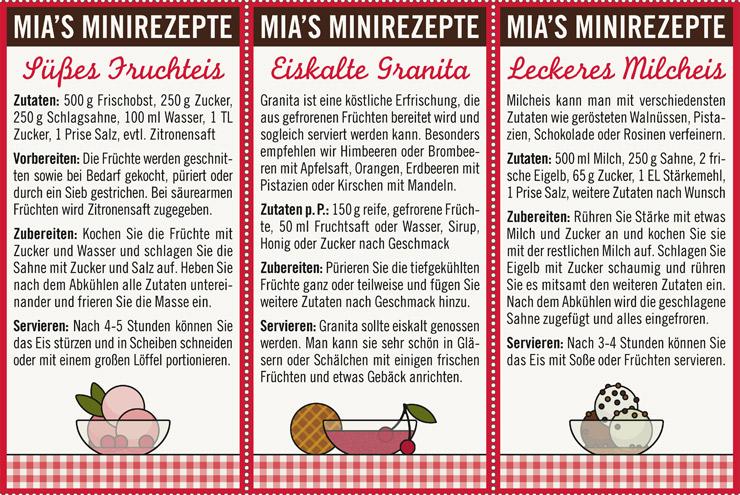 Kleine Rezepte für süßes Fruchteis, eiskalte Granita und leckeres Milcheis aus dem Lily Lux Notizbuch