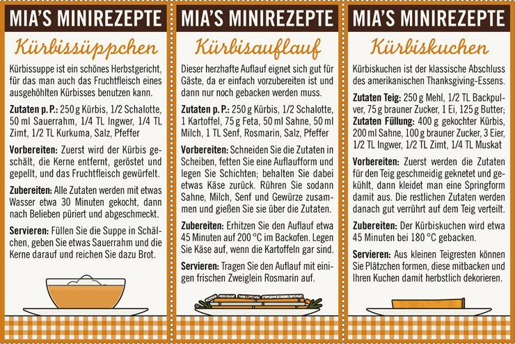 Rezepte für den Herbst, Allerheiligen und Halloween mit Kürbis, Kürbissuppe, Kürbisauflauf und Kürbiskuchen für Lily Lux
