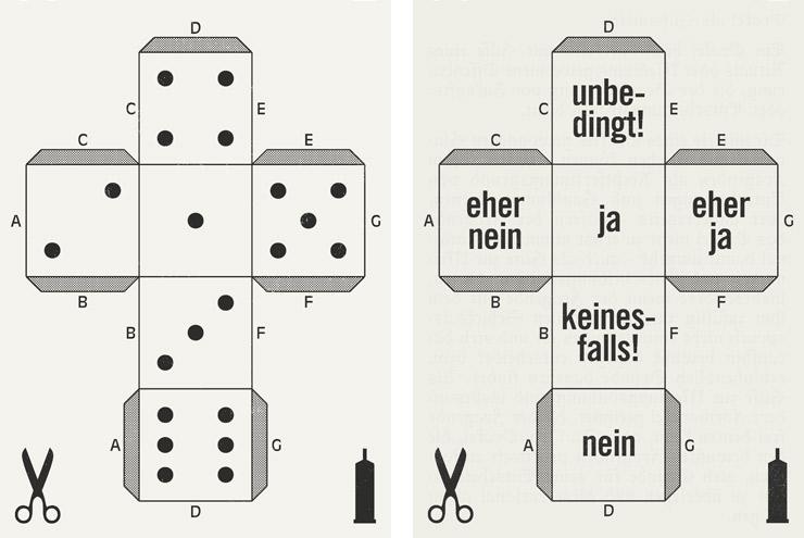 Anleitung für kleine Würfel aus Papier mit Zahlen und als Entscheidungshilfe für Lily Lux